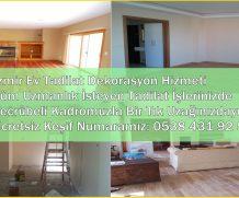 İzmir Tadilat Dekorasyon İşleri Anahtar Teslim Ev Daire Tadilatı İzmir